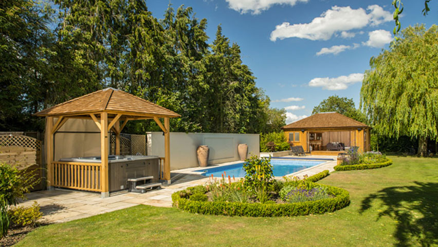 Bespoke pool houses from Crown Pavilions